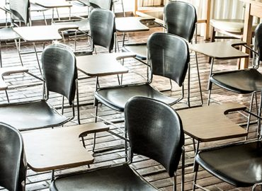 Empty classroom image